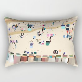Geometric Brighton Beach bathing boxes, Melbourne, Australia Rectangular Pillow
