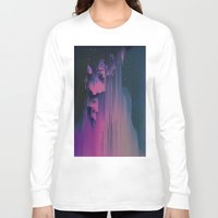 fringe Long Sleeve T-shirts featuring Pink Fringe by DuckyB