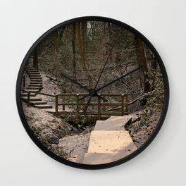 Snowy Ironbridge Gorge Wall Clock