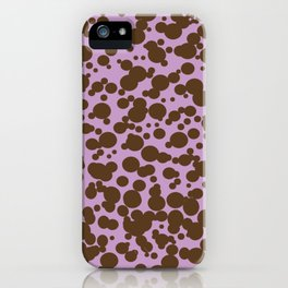 Bubbles in the Batter - Lavender-Chocolate iPhone Case