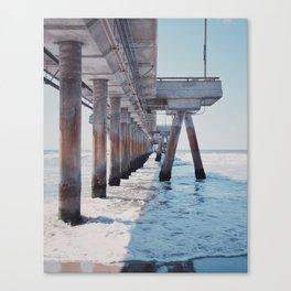 Under the pier Canvas Print