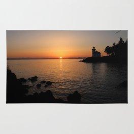 Lime Kiln Lighthouse Sunset Rug