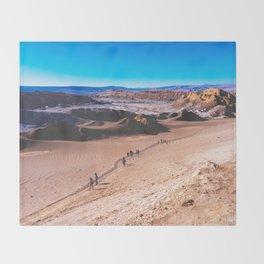 Valle de la Luna (Moon Valley) in San Pedro de Atacama, Chile 3 Throw Blanket