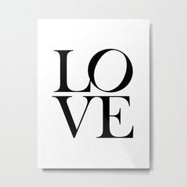 Love Print, Printable Wall Art, Bedroom Print, Home Decor Print, Quote Print, Minimalist Valentines Day Gift Prints Poster Metal Print