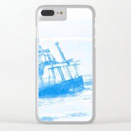 shipwreck aqrewb Clear iPhone Case