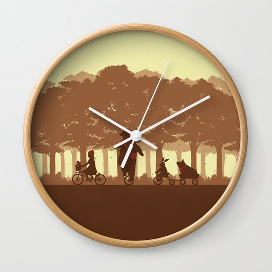 Biking with Friends Wall Clock