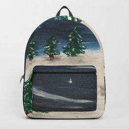 Christmas Snowy Winter Landscape Backpack