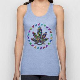 Butterflies Cannabis Leaf 2 Unisex Tank Top