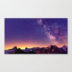 Sunset Mountain #stars Canvas Print