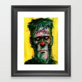 Frankensteins Monster is tired Framed Art Print