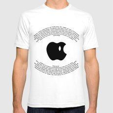 A Tribute To Steve Jobs SMALL White Mens Fitted Tee