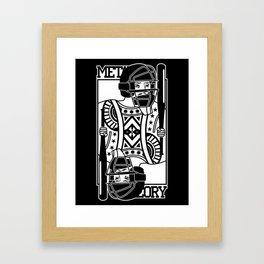 King card Framed Art Print