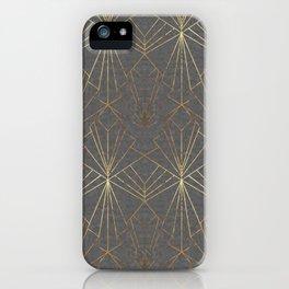 Art Deco in Gold & Grey iPhone Case