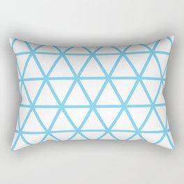 Light Blue Triangle Pattern 2 Rectangular Pillow