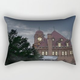 Nights at the Station Rectangular Pillow