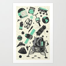 Space Funk Art Print