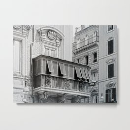 Roman city balcony Metal Print
