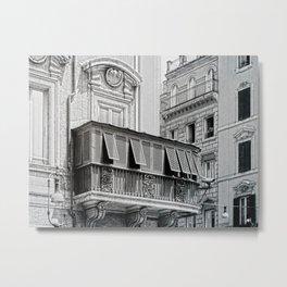 Roman city balcony Metal Print
