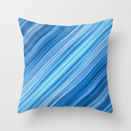 Ambient 1 in Blue Throw Pillow