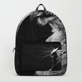 Lioness (Black and White) Backpack
