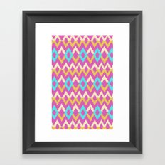 Ikat inspired Framed Art Print