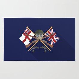Great war Flat Design Of United Kingdom Rug
