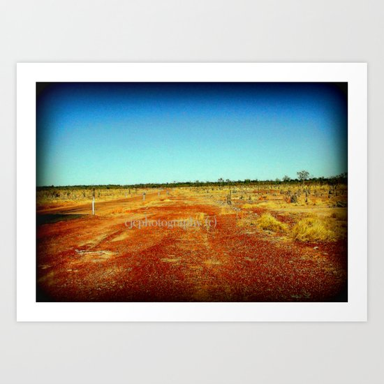 Concurry - Normonton Road - Outback Queensland Art Print