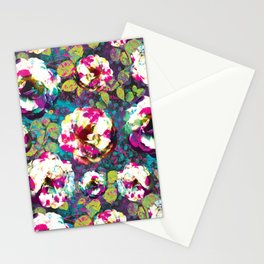 Paintsplat floral Stationery Cards