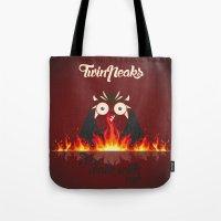 twin peaks Tote Bags featuring Twin peaks by sgrunfo