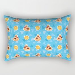 Bells (Blue) Rectangular Pillow