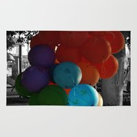 balloon Area & Throw Rugs featuring balloon by gzm_guvenc