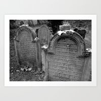 jewish Art Prints featuring Jewish Cemetary, Worms Germany by Sugar Skulls Photography