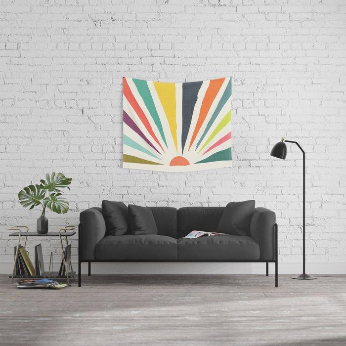 Rainbow ray Wall Tapestry