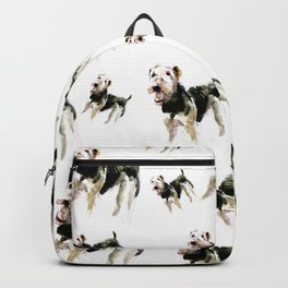 Airedale Terrier on watercolor Backpack