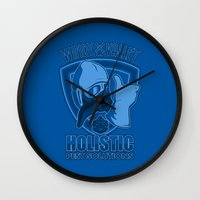nausicaa Wall Clocks featuring Windy Valley Holistic Pest Solutions by adho1982