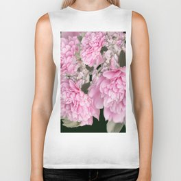 Pink Bouquet On A Black Background  #society6 #buyart Biker Tank