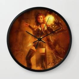 Witch Tower Wall Clock