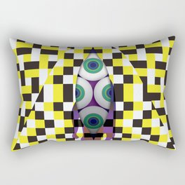 Eyes with Yellow and Black Rectangular Pillow