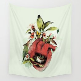 Heart Of Birds Wall Tapestry