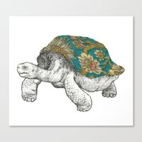tortoise Canvas Prints featuring Tortoise by Ouizi - Los Angeles