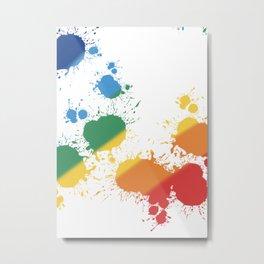 Rainbow Splatter Metal Print