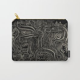 Black and White Graffiti Art Tribal  Carry-All Pouch
