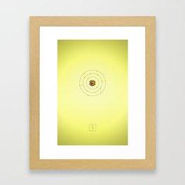 16 Sulfur - Atomic Poster Framed Art Print