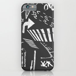 Traffic - crosswalks and bike lanes in NYC iPhone Case