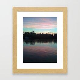 Sleeping on the lake Framed Art Print