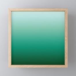 Ombre Teal Green Gradient Pattern Framed Mini Art Print