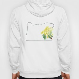 or // oregon grape watercolor state flower map Hoody