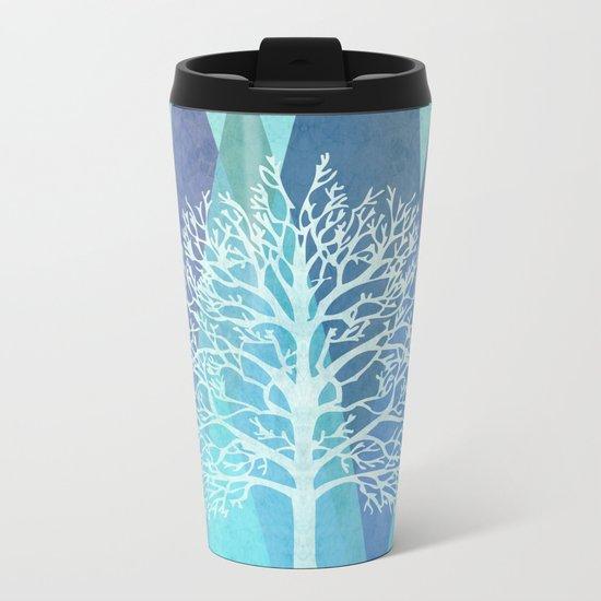 Winter Tree Metal Travel Mug