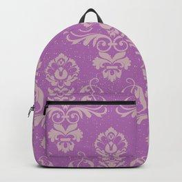 Purple Damask Backpack