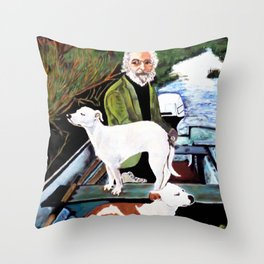 Goodfellas Dogs Painting, Artwork for Wall Art, Prints, Poster, Tshirts, Men, Women, Youth Throw Pillow